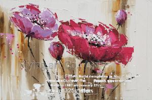 Arte moderna acrilica della parete della pittura a olio del fiore