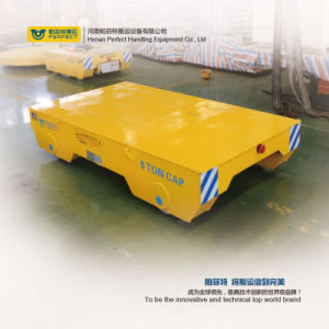 Vagão transporte motorizado acionada da bateria com o interruptor de limite