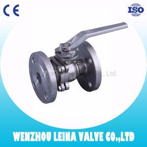Extremo de brida 2PC con placa de fijación DIN PN16/PN40 La válvula de bola