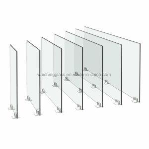 O vidro temperado com orifícios para construir e móveis