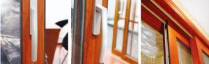 アルミニウムガラススタッカーおよびテラスの引き戸の白カラー