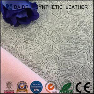 O PVC retardante de chamas flor grande&PU tecido de vinil para sofá/revestimento de móveis