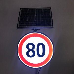 De aangepaste Snelheid beperkte LEIDENE van de Macht van het Teken Waarschuwingssein van het Zonne Backlit Actieve Lichtgevende Weerspiegelende het Lichte Verkeer van de Verkeersveiligheid