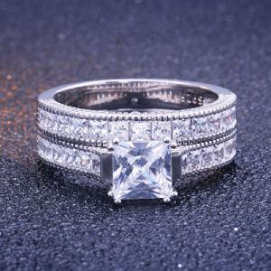 Design típico de engate de Casamento Anéis de prata jóias