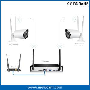 ホーム使用のための防水4CH 1080P無線WiFi Secuirty IPのカメラキット