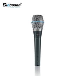 Sinbosen Beta87um condensador Supercardioid Mão Microfone com Fio