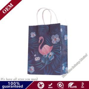 Ecológica reutilizable personalizadas Bolsas de regalos bolsa de papel Kraft bolsas de supermercado