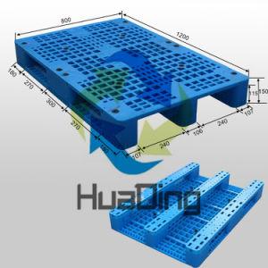 plastic Pallet van het Dek van het Net van 1200*800*150mm (48  X32  X6 ) de Lichtgewicht met Agent 3