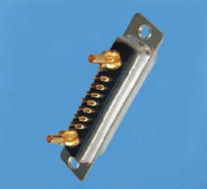 Typ Verbinder des Fabrik-kundenspezifischer Lötmittel-17W2 der Energien-D-SUB