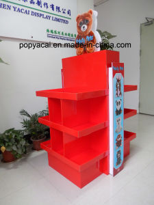 Kreative Pappladeplatten-Bildschirmanzeige für Spielwaren-doppelte Größen-Ausstellung-Bildschirmanzeige