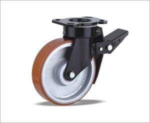 폴리우레탄 바퀴를 가진 회전대 피마자