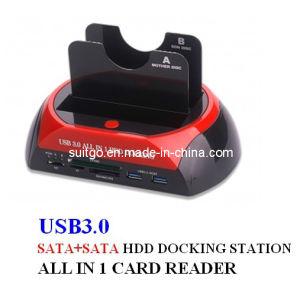 LED 다기능 SATA HDD 단미를 가진 USB3.0