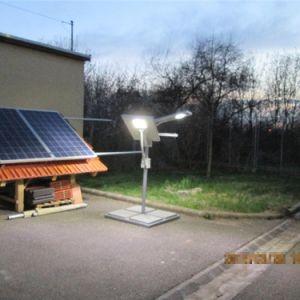12W датчик движения солнечной улице лампа