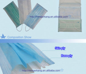 Antiwind-nichtgewebte Wegwerfgesichtsmaske