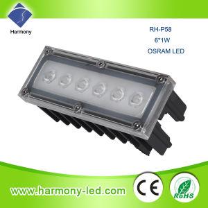 IP65 6W High Power LED Luz lanza Jardín