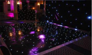 結婚披露宴の装飾のための黒い表面のアクリルLEDのダンス・フロア