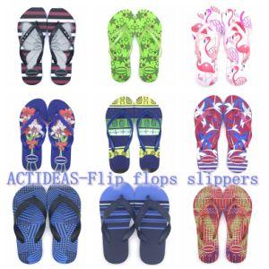 Plage de gros promotionnels imprimés personnalisés femmes Lady Flip Flops