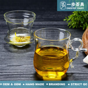 Teacup di vetro termoresistente per la spremuta del caffè del tè