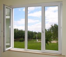 백색 색깔 3 Panles 알루미늄 여닫이 창 Windows