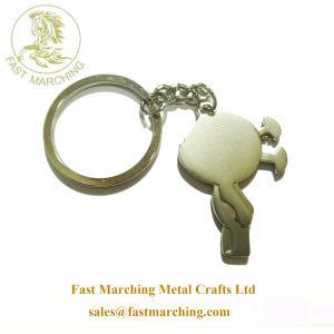 Boa qualidade em branco Personalizado Engravable Sterling Silver Chaveiro fob
