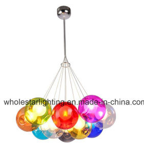 Lustre de vidro colorido moderna Lâmpada (WHG-916)