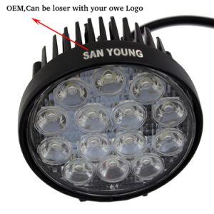 precio de fábrica 14LED 42W 12V 24V Ronda luz LED de trabajo Offroad llevó la luz de conducción