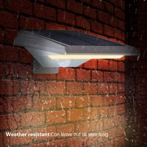 La energía solar LED de luz de montaje en pared jardín patio valla horizontal de color de exterior lámpara