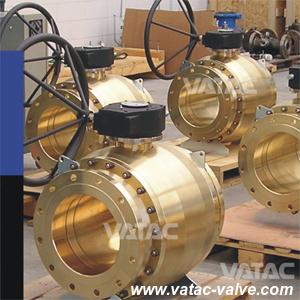 Caixa de Engrenagens API/DIN PORTA COMPLETA DE RF de latão Válvula de Esfera de montagem do munhão (Q341F)