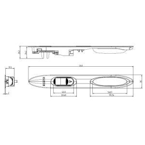 Aluminiumtür-Befestigungsteil-Tür-Griff-Verschluss für Schiebetür