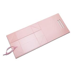 A China a impressão de cores personalizadas OEM dobrar papel Caixa Cosméticos Embalagem, Caixa de papel de cosméticos e cuidados da pele na Caixa de papel, Dom Caixas de papel com alça de Fita de seda