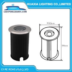 Warmes des weißen/weißen Edelstahl-rundes vertieftes Tiefbau-LED im Freienlicht Pfad-Licht Inground der Lampen-1With3W