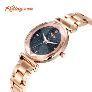 Or Rose de luxe Ketiny Fashion Lady étanche regarder avec ciel étoilé composer