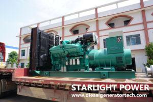 Cummins Engine Kta19-G4のディーゼル発電機によって動力を与えられる550kVA電気発電機