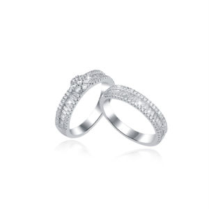 Venda por grosso de acessórios de moda enorme Anel de estoque 925 Libra Esterlina jóias de prata
