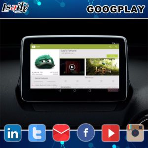 Android Market 6.0 Sistema de navegação GPS para Mazda 2 CX-5, Interface de Vídeo / Integração 2014-2018 Waze Link do Espelho