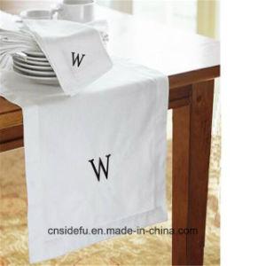 Hotel o logotipo personalizado guardanapos de linho branco comum