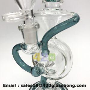 - Grünes Recycler-Tabakweed-unbesonnenes Glasölplattform-Glaswasser-Pfeife erblassen