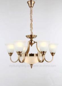 European-Style grandes chaminés de vidro da lâmpada Pendente se aplica a sala de estar