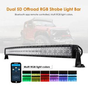 Veranderen van de Kleur van de boog 5D het RGB Offroad Gebogen 52  300W LEIDENE Lichte Staaf