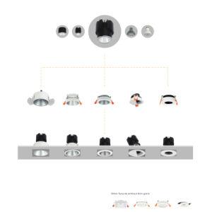 PANNOCCHIA rotonda di disegno piacevole 9W LED Downlight
