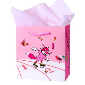 도매 낮은 MOQ 재고 귀여운 4c에 의하여 인쇄되는 선물 종이 봉지