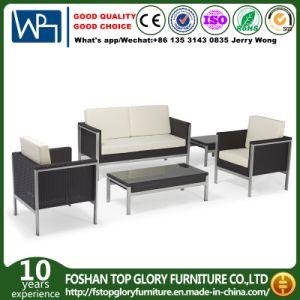 Neues Entwurfs-synthetisches Rattan-Aluminiumim freienmöbel-Sofa für Garten u. Hotel