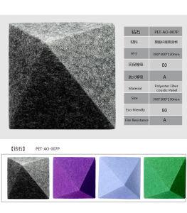 De Vorm van de diamant met het Verschillende Akoestische Comité van de Polyester van het Effect van Kleuren Grote Visuele 3D