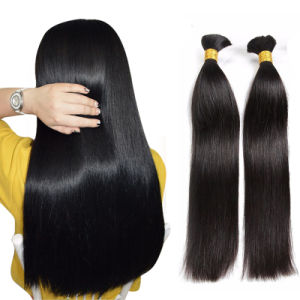 卸し売り安く100%自然なブラジルのRemyのクチクラによって一直線に並べられるバージンの人間の毛髪