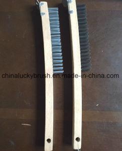 spazzola di filo di acciaio di legno della maniglia di lunghezza di 320mm Or350mm (YY-655)