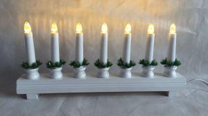 Rote oder weiße Beleuchtung-Weihnachtsdekoration der Brücken-Kerze-LED