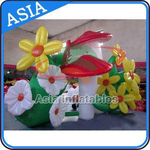 Venta de fábrica LED inflables Decoración floral para la publicidad