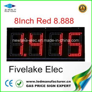 LED de 6 pouces écran Changeur de prix du gaz (NL-TT15F-2R-DL-4D-rouge)