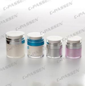 Skincareの包装のための新しい到着のアクリルの空気のないクリーム色の瓶(PPC-ARCJ-004)