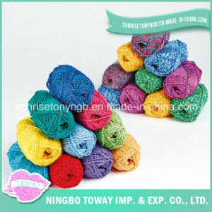 Fios de grossista de malha barata corante de tecido em acrílico colorido impresso (T001)